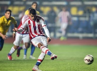 Derlis Gonzalez was on target as Paraguay progressed at Brazil's expense last night.