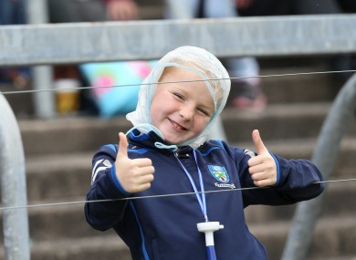 This young Monaghan supporter was happy with the result.
