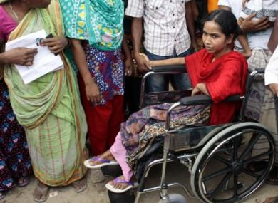 A Bangladeshi survivor of the Rana Plaza building collapse.