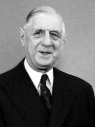 Former French President Charles de Gaulle