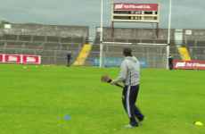 Clare hurlers do charity crossbar challenge and Davy calls on Waterford to go next