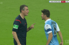 German referee is a bad-ass mutha' who don't take no crap off of nobody