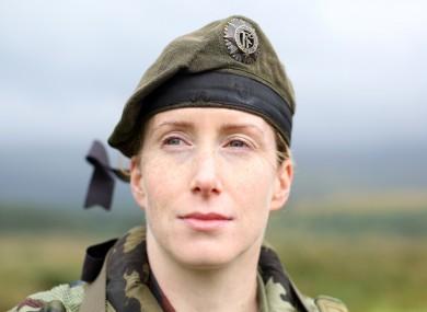 Irish Army Lieutenant Marie Carrigy