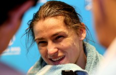 Katie Taylor is fighting an Azerbaijani on home turf next… but does she look like she's worried?