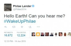 After a seven month nap, the tiny Philae probe has woken up and made contact
