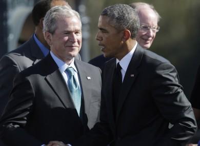 George W Bush and Barack Obama