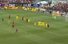 This outstanding free-kick routine must have taken hours to perfect