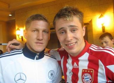 Niccolai Schuster meeting his hero.