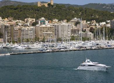 Palma Harbour on the island of Majorca.