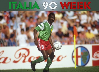 Roger Milla was the star of the Cameroonian team that wowed Italia 90.