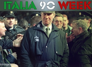 Jack Charlton spent almost 10 years as manager of Ireland.