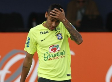 Neymar received a four-game ban for getting himself sent off at the end of his country's Copa America clash with Colombia.