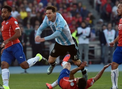 Messi was largely a peripheral figure in the game.