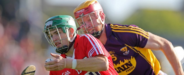 Alan Cadogan in action for Cork against Wexford.