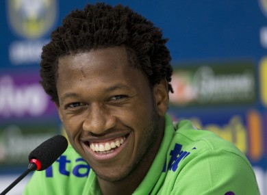 Fred: Shakhtar midfielder was not involved at the 2014 World Cup.