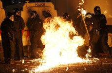 Crate of petrol bombs seized from group of more than 20 youths
