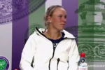Caroline Wozniacki was asked if she'd a message for Rory McIlroy after losing at Wimbledon