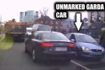Impatient driver recklessly overtakes truck in Dublin� right into the teeth of an unmarked Garda car