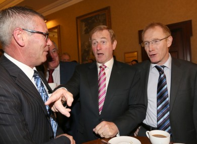 Pat O'Neill, Enda Kenny and Frank Feighan (right) pictured in 2013.