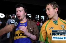 These two lads were interviewed live on US TV in their GAA jerseys and it was gas