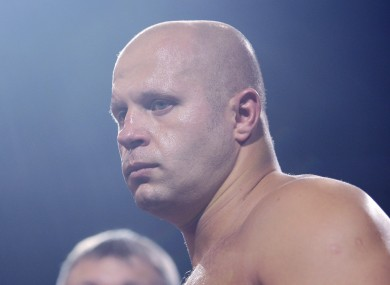 Former Pride heavyweight champion Fedor Emelianenko.