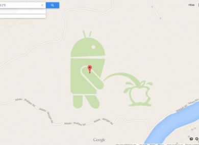 The edit which eventually led to Google Map Maker being temporarily suspended.