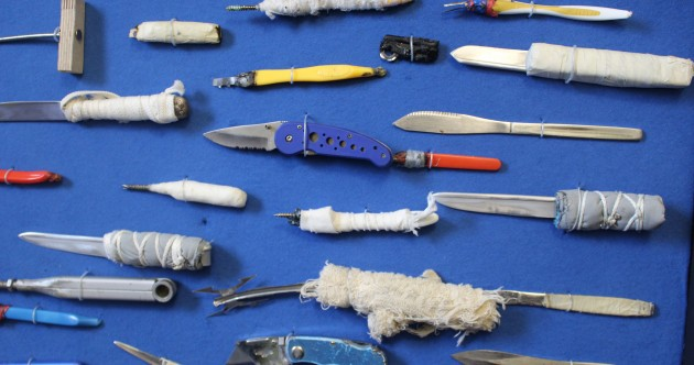 These are just some of the lethal homemade weapons seized in Irish prisons