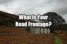 What Is Your Road Frontage?