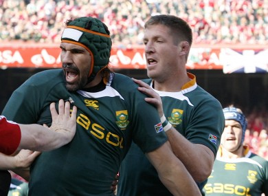 Matfield and Botha, in tandem against the Lions in 2009, will go head to head on Saturday.