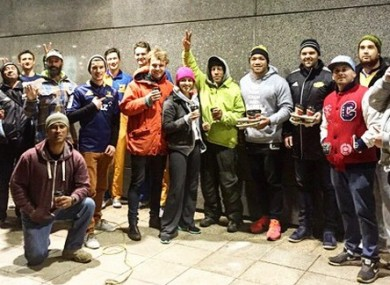 Some Super Rugby fans got a surprise visit while queuing for tickets.