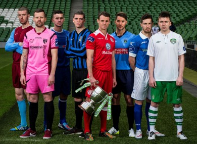 SSE Airtricity League First Division players (file pic).