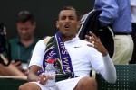 Australia's Nick Kyrgios completely stopped trying during his Wimbledon meltdown today