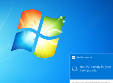 If you have Windows 7 or 8.1, you may see an icon on your toolbar allowing you to reserve a spot for upgrading.