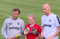 Mark Noble did little to convince anyone of his Irish roots when he tried his hand at hurling
