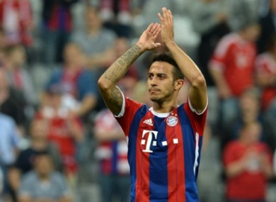 Thiago suffered knee ligament damage in training last October.