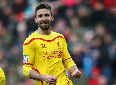 Borini made just 38 appearances for the Reds.