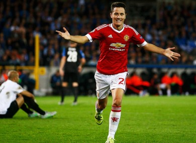 Herrera played a starring role in United's 4-0 victory over Brugge.