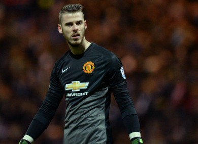 David De Gea has yet to play for Manchester United this season.