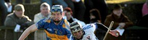 Eddie Connolly (4) in action against Waterford IT's Timmy Hammersley during the 2011 Waterford Crystal Cup clash.