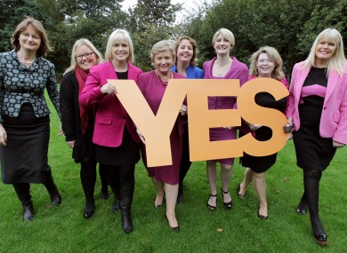 Female politicians from various parties calling for a Yes vote in the same-sex marriage referendum.