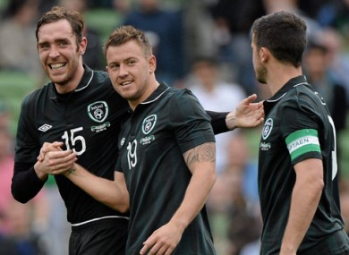 Keogh has earned seven caps for Ireland