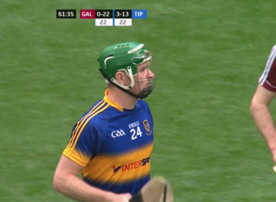 McGrath came off the bench for the final eight minutes against Galway.