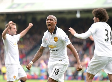 Ashley Young has been rewarded for some sparkling performances last season.