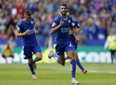 Riyad Mahrez scored twice in Leicester's opening day win.