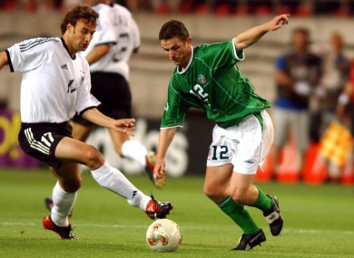 Kinsella represented Ireland at the 2002 World Cup.