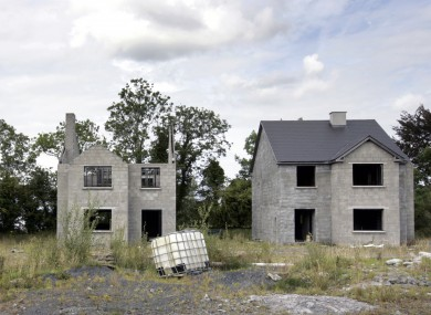 A ghost estate in Co Leitrim