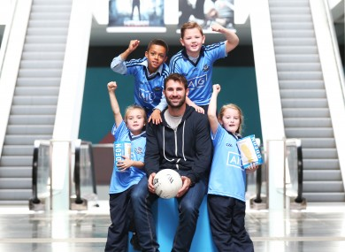 Former Dublin captain Bryan Cullen at today's launch at the Point Village.