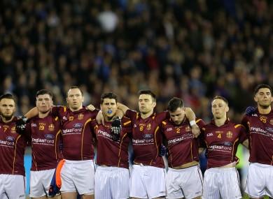Bernard Brogan (fourth from left) and his St Oliver Plunkett/Eoghan Ruadh team-mates.