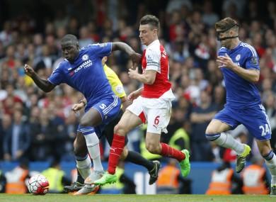 Arsenal's Laurent Koscielny at Stamford Bridge earlier this month.