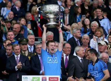 Dublin's Jack McCaffrey with the Sam Maguire trophy.